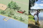 Štvanice bude znovu plná Pražanů: Vzniká nová plovárna, přibude pláž i dřevěné molo