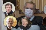 """Zeman a 38 metálů: Prezident ocenil Gotta, Prymulu, Trávníčka, veterány i """"kámoše"""" z hotelu"""