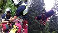 Žena si při závodě v Krkonoších propíchla nohu trekingovou holí