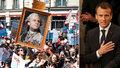 """Naštvaný """"dárek"""" k Macronovu výročí: Do ulic vyrazilo na 40 tisíc nespokojených lidí"""