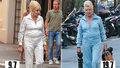 Ivana Trump bez make-upu v St. Tropez: Jiná teplákovka, ale lodičky, rolexky a kabelka od Diora zůstávají!