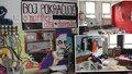 FOTO: Uvnitř kontroverzní Kliniky: Špinavé nádobí, kusy oblečení a pomalované zdi