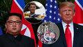 """V Hanoji """"zbrojí"""" na Kima a Trumpa: Nabízejí extra burgery i prezidentské účesy"""