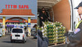Velká razie v Sapě: Celníci s policisty i veterináři lustrují auta s potravinami