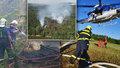 Shořel les za tři miliony: Ničivý požár vyhnal z tábora 40 dětí! Nejde o hru, říkali jim vedoucí