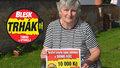 Alena (61) vyhrála 10 tisíc v Trháku! Nedala jsem štěstí pokoj, směje se