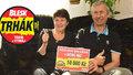 Z 10 tisíc z Trháku se těší také manželé Balonovi z Prahy: Večeře a dárky pro vnoučata!