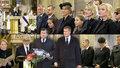 Pohřeb Karla Gotta (†80): Zeman s rodinou, Klausová bez manžela. Babišová nasadila klobouček