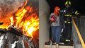 Noční požár na pražském sídlišti řeší policie: Lidé před plameny vybíhali v pyžamu s rozespalými dětmi