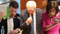 Fraška ve Sněmovně: Okamurovi se smáli, do Schillerové šili za špínu i růžové šaty