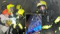 V ulici Jana Želivského hořelo: Hasiči hasili obývák, 18 lidí muselo do mrazivé noci