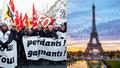 Paříž ochromila obří demonstrace. Zavřeno má Eiffelovka, vlaky a nadzemka stojí