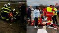 Vážná nehoda na Náchodsku: Dvě auta na střeše a čtyři zranění! Zasahoval vrtulník