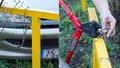 VIDEO: Šílený nápad řidiče: Chtěl se vyhnout odtahu, auto v Krči připoutal k zábradlí