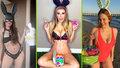 Tihle velikonoční zajíčci vystrčili víc než jen ouška: Sexy krásky se nestydí ani o svátcích