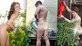 Zahradníci odloží šaty a pustí se do přesazování: Nadešel Den nahého zahradničení
