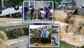 """Auta, domy i zahrady v bahně. """"Vyřítily se na nás popelnice,"""" popsal Vlastimil povodně"""