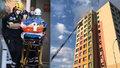 Na Žižkově hořel byt. Z paneláku evakuovali 57 lidí, jednu ženu museli oživovat