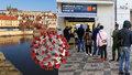 Koronavirus v Praze: 905 případů za úterý, v hlavním městě je přes 12 tisíc nakažených