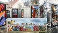Rozebrali grafitti z holešovického Výstaviště. K vidění je rozřezané na Kampě