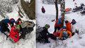 Mladíka v Jizerských horách zranil padající led: Vrtulník mu pomoci nemohl