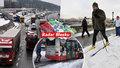 Sněhová kalamita: Řidiči na D1 spali za volantem, policisté je pěšky budili! Zřícená hala, nehody sanitek i hasičů