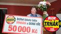 Denní hra přinesla Libuši Novákové (58) 50 tisíc Kč! Výherkyně: Přej a bude ti přáno!