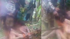Upalte ty čarodějnice! Tyrani na videu umučili nahé ženy k smrti