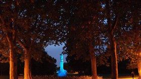 Letnou má rozzářit bohyně Diana. Svítící socha má v parku stát od podzimu