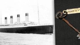 Rezavý klíček z Titanicu se prodal za 2,6 milionu. Patřil utonulému stevardovi