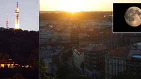 Pozorujte superúplněk nad Prahou: Odkud bude nejlépe vidět?