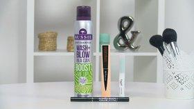 Vyzkoušeno před kamerou: Suchý šampon a korektor proti akné