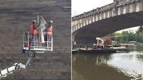 Most Legií provrtávají sondy. Průzkum omezí dopravu, na několik dní ho zavřou úplně