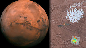 Voda na Marsu! Vědci našli solné jezero hluboko v půdě. Je v něm život?