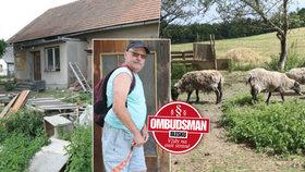 Dům hrůzy ve Vyhnánově: Ovce týrá hladem a žízní už rok místní »chovatel«. Úřady jsou na něj krátké