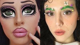 Nejšílenější trendy z Instagramu: Make-up pro panenky a zahrádka místo obočí
