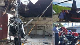 Tragický pád vrtulníku v Plzni: Zemřeli tři Thajci a opilý pilot, policie stíhá firmu