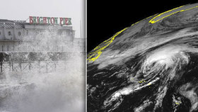 Bouře Helene se žene na Británii. Vichr a přívalové deště přinesou chaos