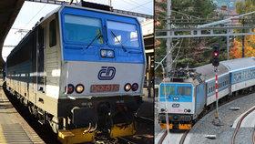 Vlak srazil ženu na hlavním tahu mezi Prahou a Brnem: Hasiči evakuovali cestující: Spoje měly zpoždění