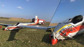 Letadlo se na Opavsku zřítilo k zemi: Pilot utrpěl zranění