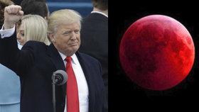 """Výročí Trumpovy inaugurace ozáří krvavý Měsíc. """"Zlé znamení,"""" odtušil pastor"""