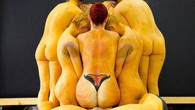 Dvanáct znamení zvěrokruhu na nahých lidských tělech! Poznáte je?