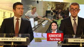 Komentář: Žranice ČSSD končí. ANO odmítlo školní obědy zdarma pro všechny
