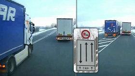 Kamioňák ignoroval zákaz předjíždění: Vjel do  cesty autobusu: Katastrofální čelní srážce zabránila jen shoda náhod
