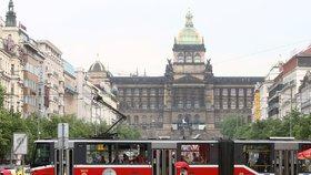 Tramvaje v horních části Václaváku: Neovlivní dopravu na magistrále, propojí odlehlejší části Prahy