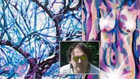"""Jakub Ječmínek (41) vystavoval obrazy v New Yorku i Basileji. """"Mám v sobě okno do jiného světa,"""" říká"""