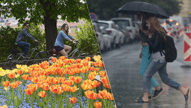 Jak na apríla, tak po celý týden: V Praze budeme střídat deštníky a sluneční brýle