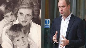 Princ William otevřeně promluvil o smrti princezny Diany: Bolest ze ztráty mámy je nepopsatelná!