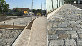 V Praze 7 je nové parkoviště z recyklované dlažby. Lidé se diví, kde jsou stromy