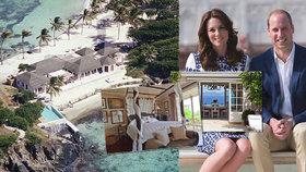 Přepychová dovolená Kate a Williama: 1,5 milionu za soukromý ostrov v Karibiku i s komorníkem!